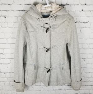 AMERICAN EAGLE | cozy zip & toggle warm hoodie